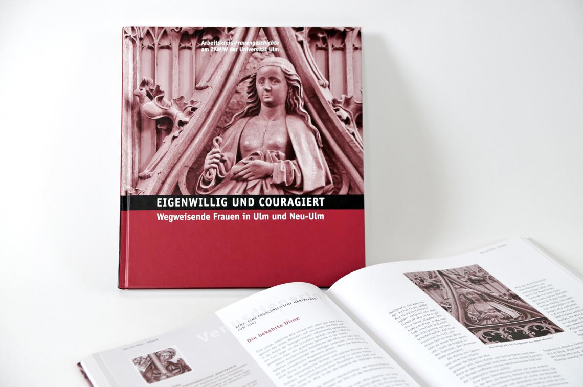 Buchgestaltung von Gabriele Stautner, ARTIFOX, Eigenwillig und Couragiert, wegweisende Frauen in Ulm und Neu-Ulm