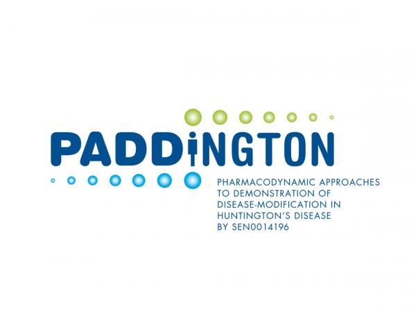 Logo für das Paddington-Projekt, eine klinische Studie zur Medikation der Huntington-Krankheit, ein europaweites Projekt, ©Gabriele Stautner, ARTIFOX