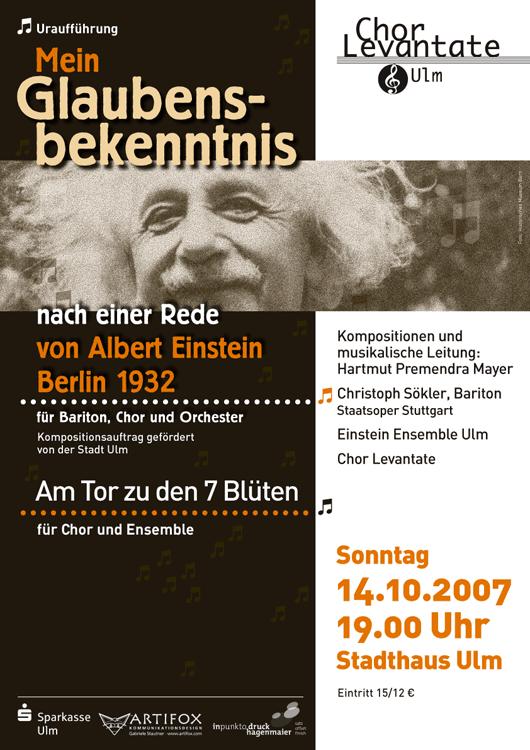 Poster Design von Gabriele Stautner, ARTIFOX, für Chor Levantate Ulm