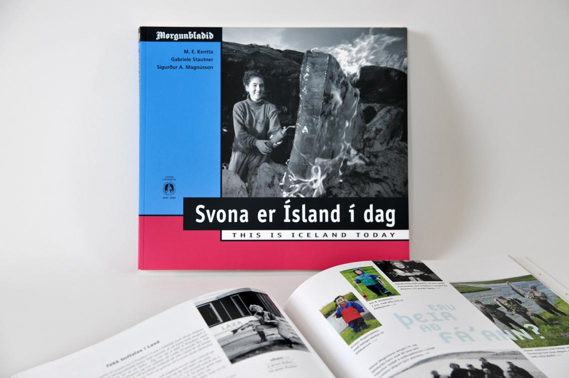 Buchgestaltung von Gabriele Stautner, ARTIFOX, Svona er Island í dag, This is Iceland Today