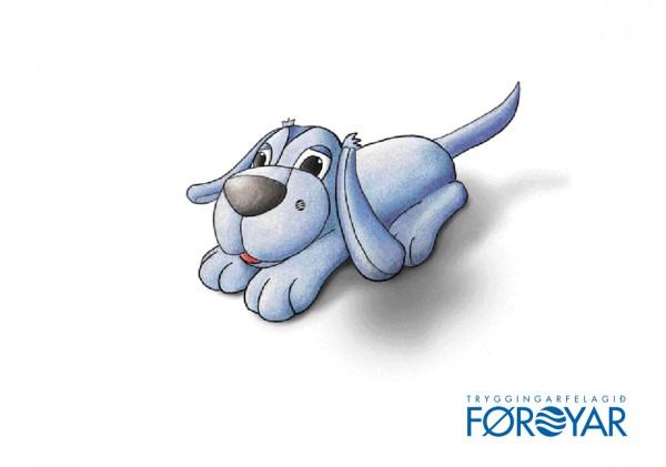 Illustration, Object Design: Faroe Insurance Company, mascot TRYGGVI, © Gabriele Stautner, ARTIFOX