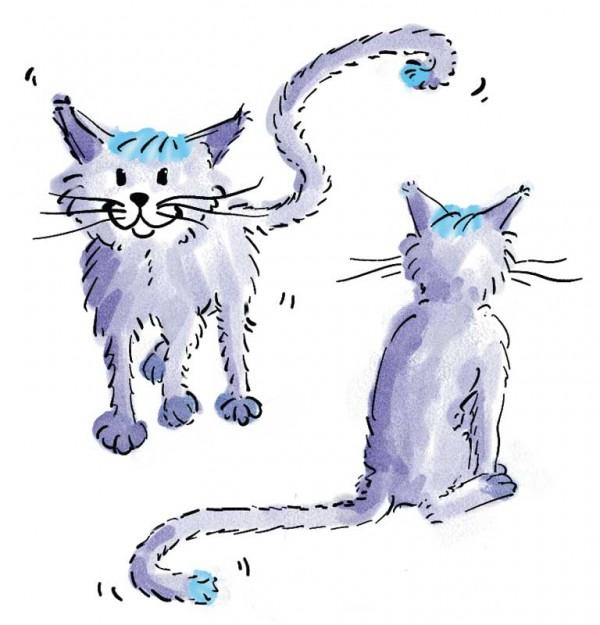 Illustration: Kisa, children's book illustration, © Gabriele Stautner, ARTIFOX