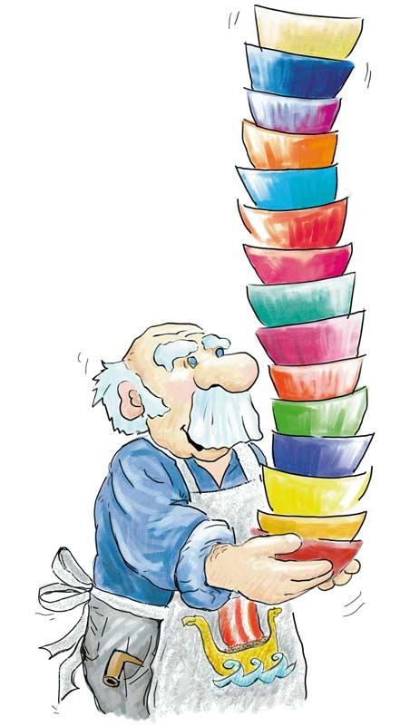 Illustration: Papa Leppaludi, children's book illustration, © Gabriele Stautner, ARTIFOX