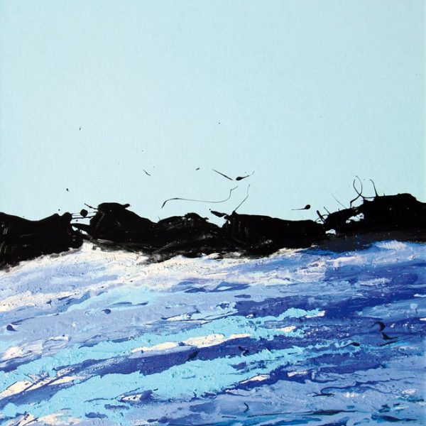 Malerei, Kunst: Gletscherfluss, Acryl auf Leinwand, 70x55cm, ©Gabriele Stautner, ARTIFOX, Ulm,