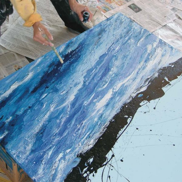 Malerei, Kunst: Wasser, the Making of, ©Gabriele Stautner, ARTIFOX, Ulm